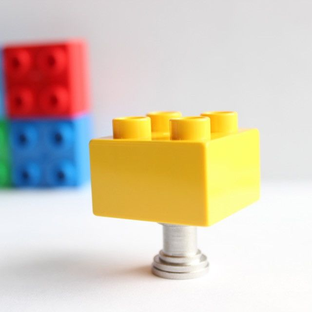 Ignite the imagination of the little architect in your life with these darling over sized LEGO drawer knobs! The bright basic colors will attract their attention and stimulate their senses. They can e