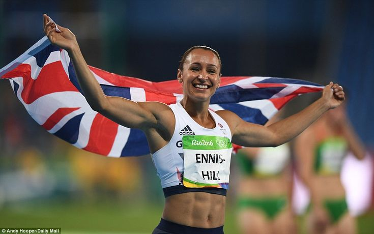 Jessica Ennis-Hill narrowly missed out on defending her Olympic title after finishing second in the heptathalon.