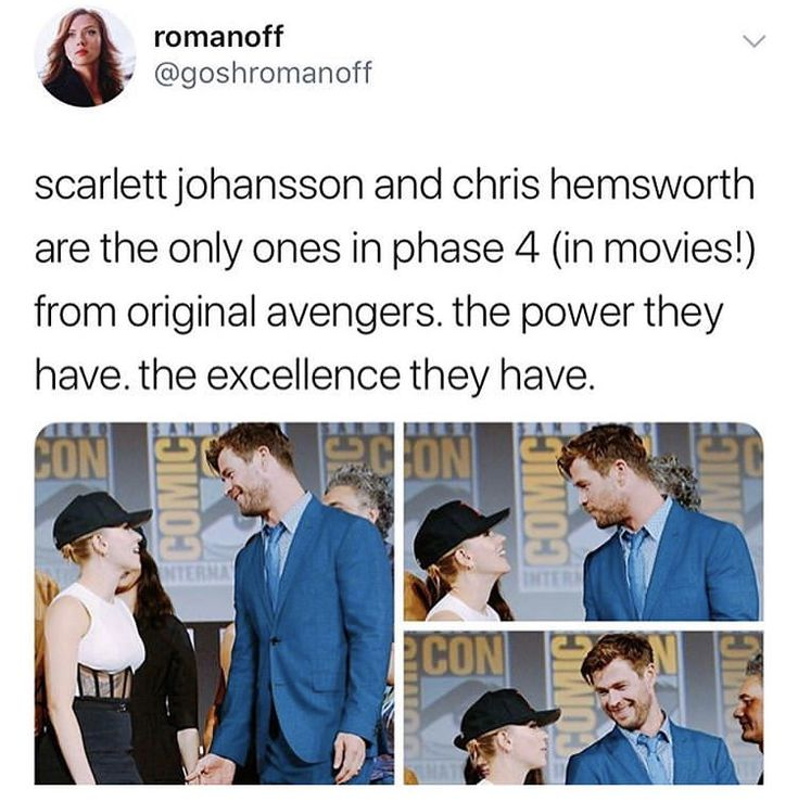 Scarlet Johansson & Chris Hemsworth – Thor & Black Widow