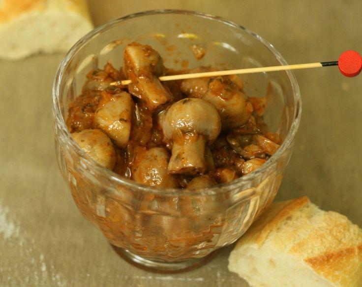 Champignons à la grecque (au Cuisine Companion Moulinex)