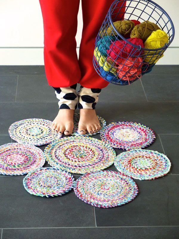 Spiral rug DIY mypoppet.com.au