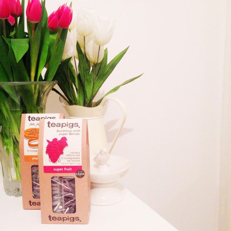 Treated myself to some Pink tulips and some fancy @teapigs tea, for a midweek treat! ☕️