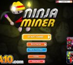 The courageous Ninja in Ninja Miner has just been entrusted with a secret mission of collecting all treasures from a deep cave under the ground.