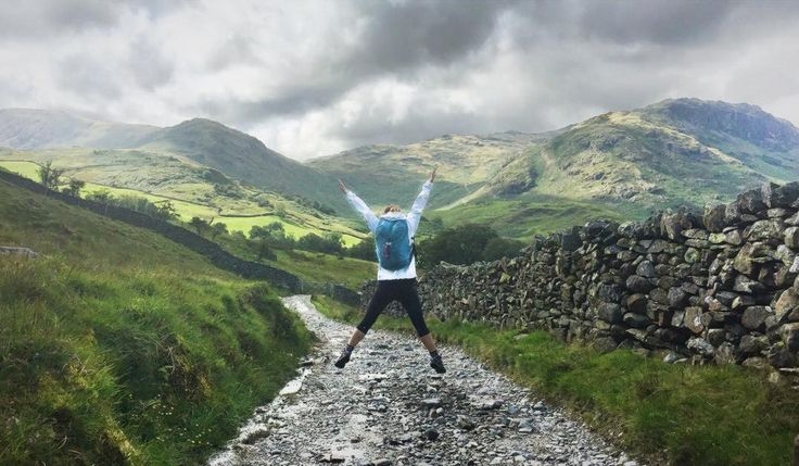 Happy customer exploring the Lake District with their Teal Arkaig.