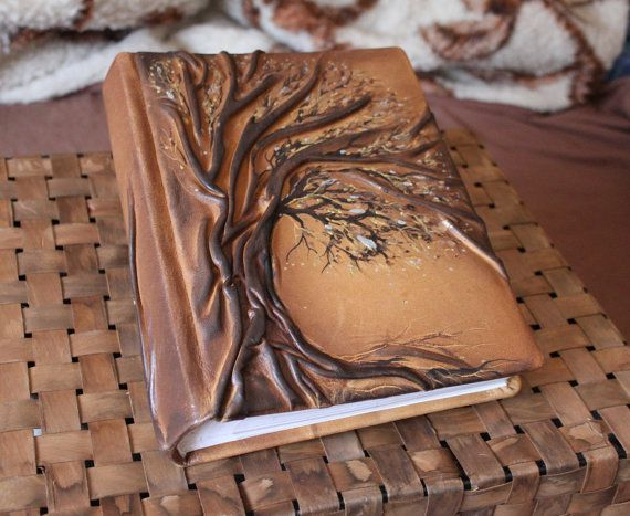 Leather photo album 10 x 7 1/2  with Tree for 200 by crearting, $95.00