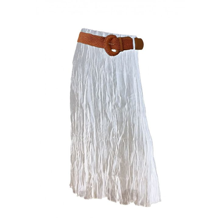 Caroline Morgan White Maxi Skirt