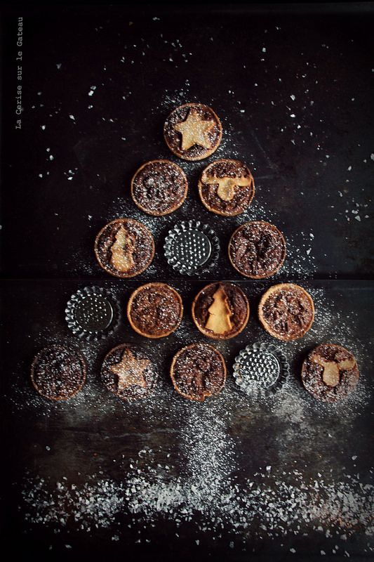 ... tartelettes aux noix de pécan et au sirop d'érable (pâte sablée à la cannelle) ...
