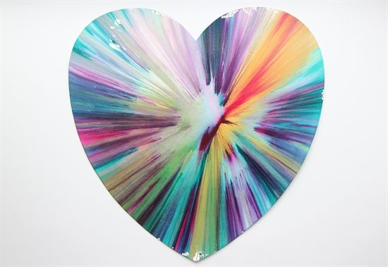 Heart Spin Painting by Damien Hirst – jen@yanggallery,com.sg - YangGallery