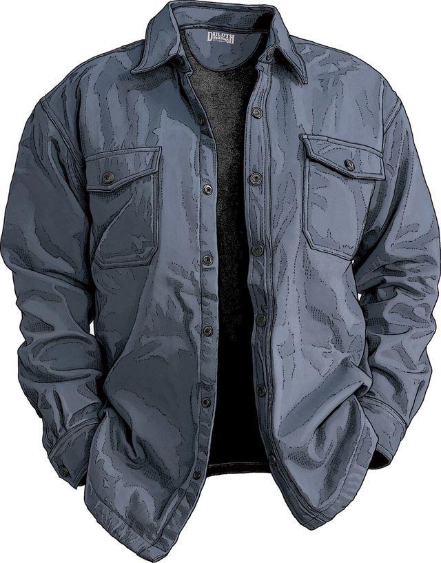 Men's Fire Hose Hanger Bender Shirt Jac (5 Colors) $54.99 (duluthtrading.com)