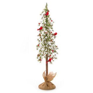 Alpine Tree Cardinal Christmas Decoration: 36 inches