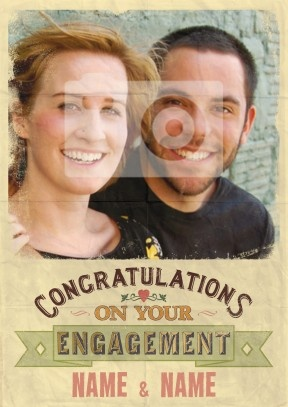 Congratulations | Photo Engagement Card £2.99
