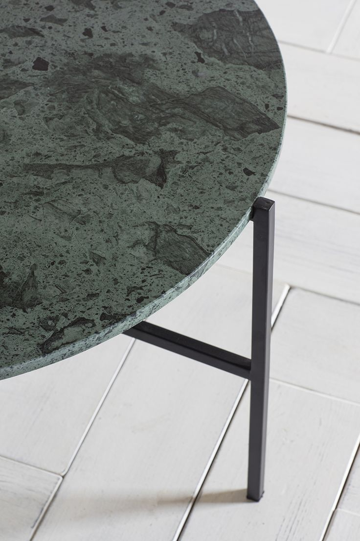 Athena Side Table in Green Marble