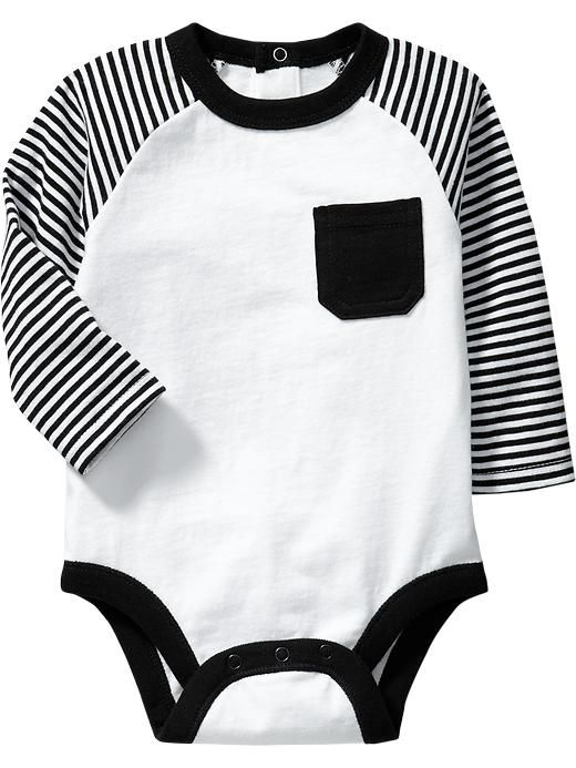 Color-Block Jersey Bodysuits for Baby Product Image