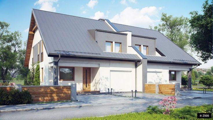 Zb15 to piętrowy dom z dwuspadowym dachem i jednostanowiskowym garażem do zabudowy bliźniaczej. Efektowne wykończenie elewacji, poprzez wkomponowanie nowoczesnych elementów podkreśla jego charakter.