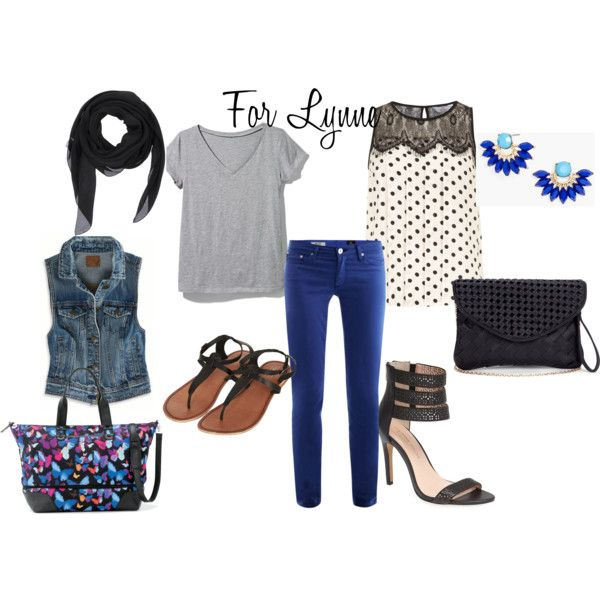 """For Lynne: Styling Cobalt Jeans"" by thirtysomethingfashion on Polyvore"