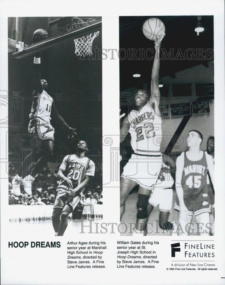 "1994 Press Photo Arthur Agee William Gates ""Hoop Dreams"""