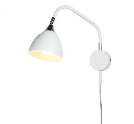 Läza Wall Lamp White with Chrome details