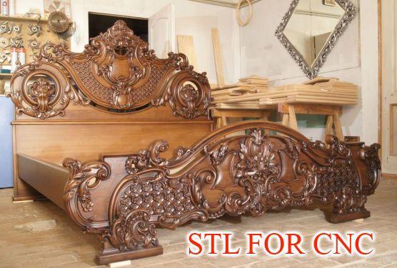 2 STL BED 3d Model for CNC Router Engraver Machine Relief Artcam