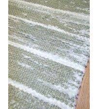Memory rongyszőnyeg zöld, fehér 50 x 210 cm