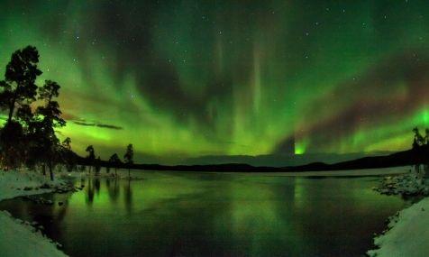 Northern Lights over Lake Inari
