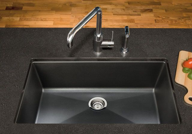 Blanco silgranit sink color anthracite remodeling for Coloured sinks kitchens