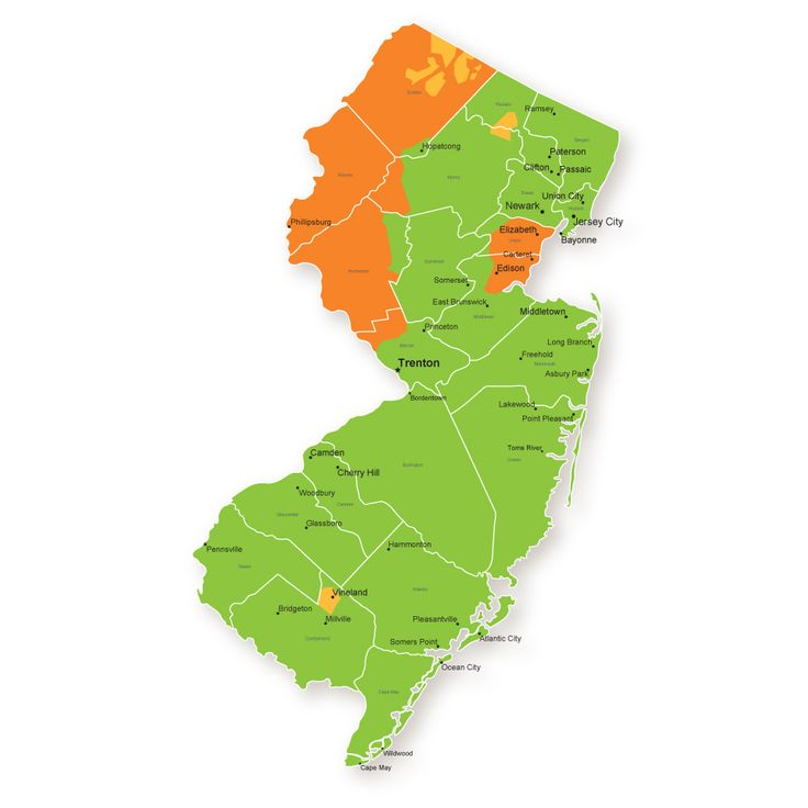 go green with electric and gas services new jersey service area map