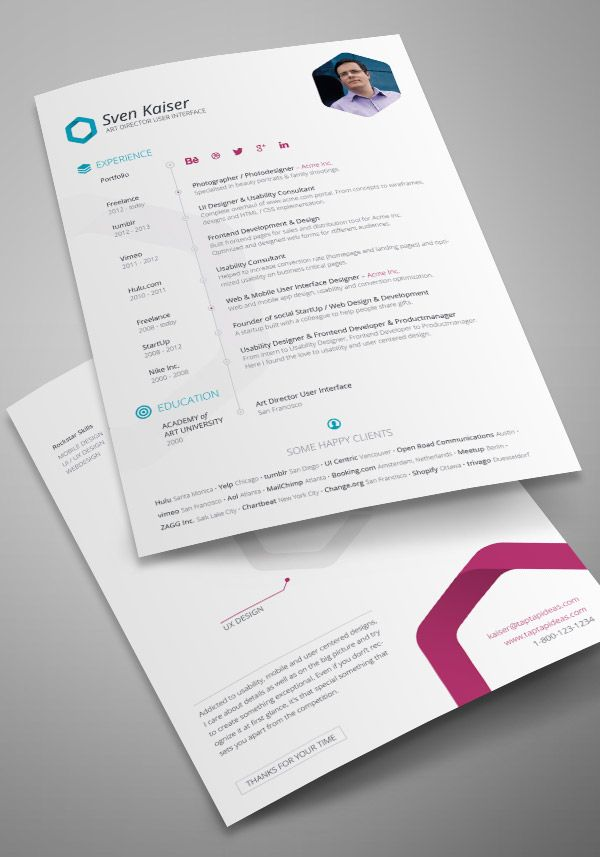 115 best CVs images on Pinterest Editorial design, Beautiful and - attractive resume templates