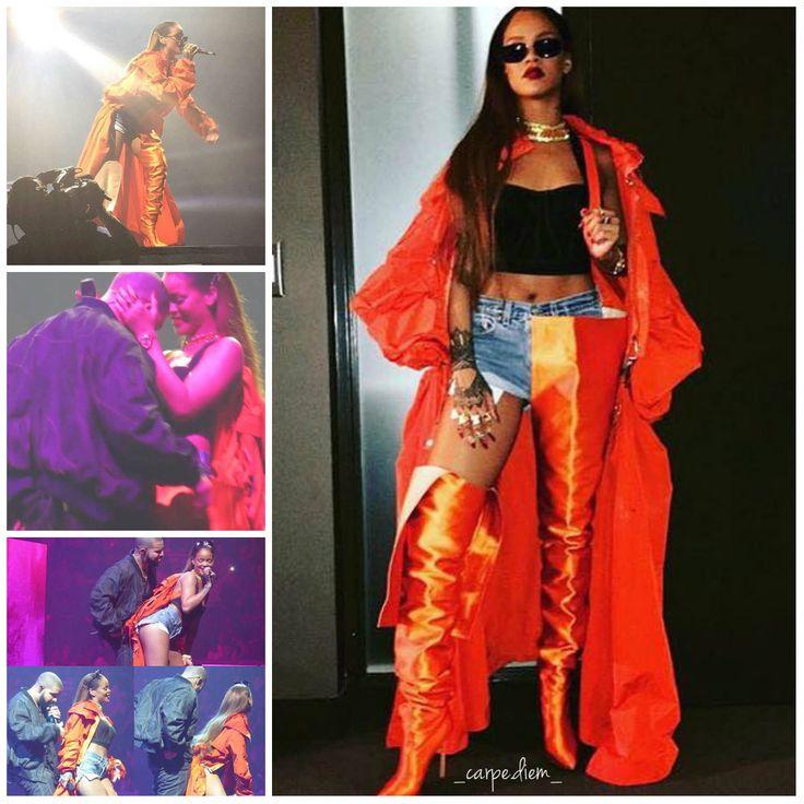 """Après son concert au Stade de France, Paris le 30 juillet dernier, Rihanna s'est immédiatement envolée pour Toronto afin de rejoindre Drake dans le cadre de sa tournée """"OVO Tour"""" !"""