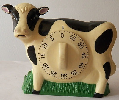 Vintage Bakelite Cow Kitchen Timer