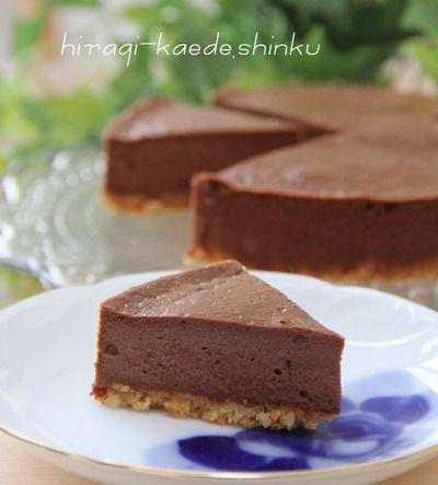 簡単!濃厚*チョコレートNYチーズケーキ【バレンタインにも♪】