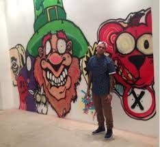 Image result for chris brown instagram graffiti  of donald trump