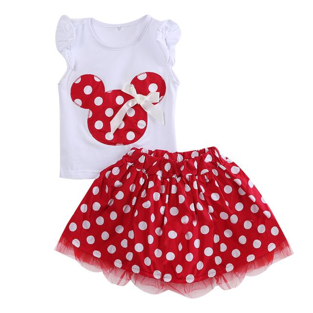 Toddler Kids Girls Clothes Cute Baby Girl T Shirt Top + Polka Dot Tutu Skirt 2pcs Outfit Summer Dress Clothing Set-in Clothing Sets from Mother & Kids on Aliexpress.com | Alibaba Group