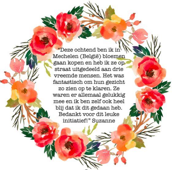 Wat leuk! Bloemen Voor gaat de grens over:) Er worden inmiddels ook al bloemen in België gegeven.