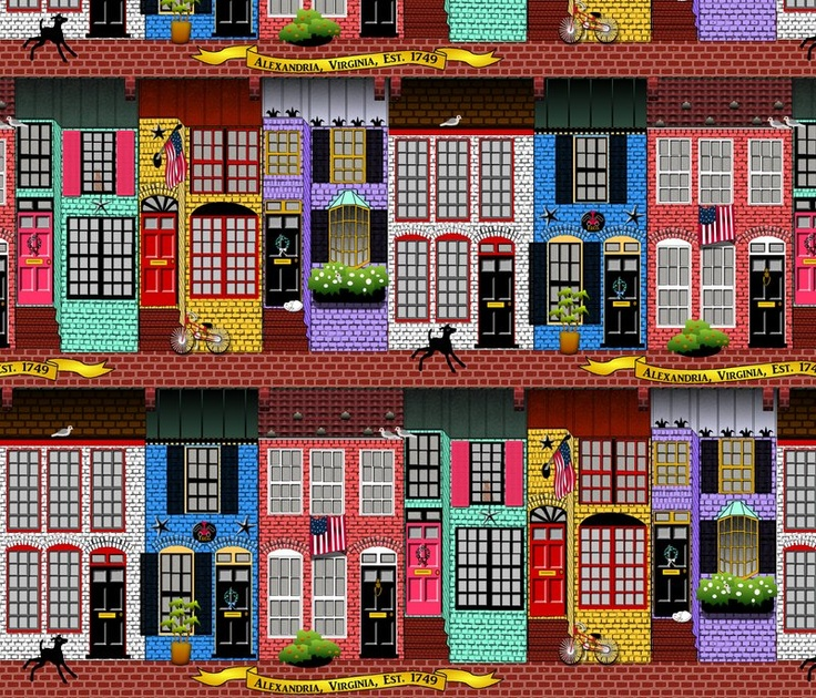 Alexandria, Virginia Spoonflower, Wallpaper, Spoonflower