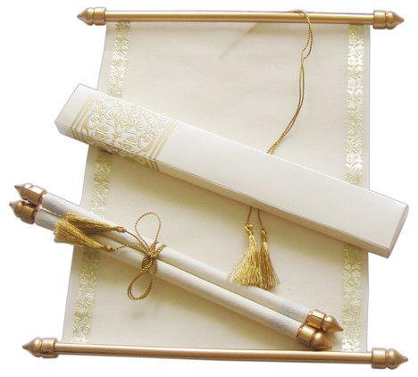 Scroll Wedding Invitation by @Cardeva