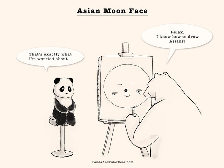 Asian Moon Face