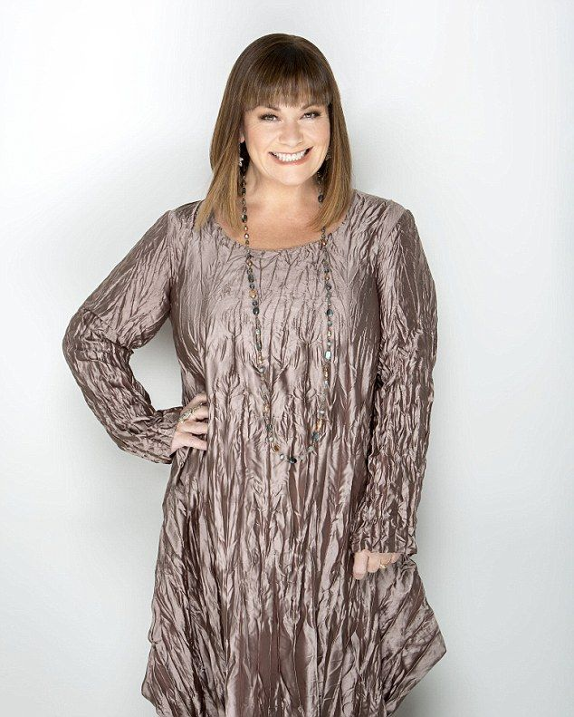 Comedian Dawn French, 56, in her latest photoshoot for Woman & Home magazine...