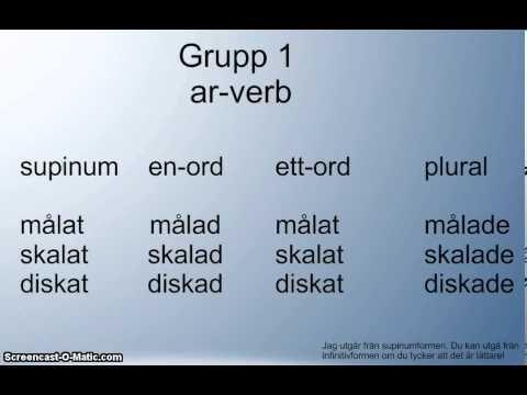 perfekt particip - grammatik - YouTube