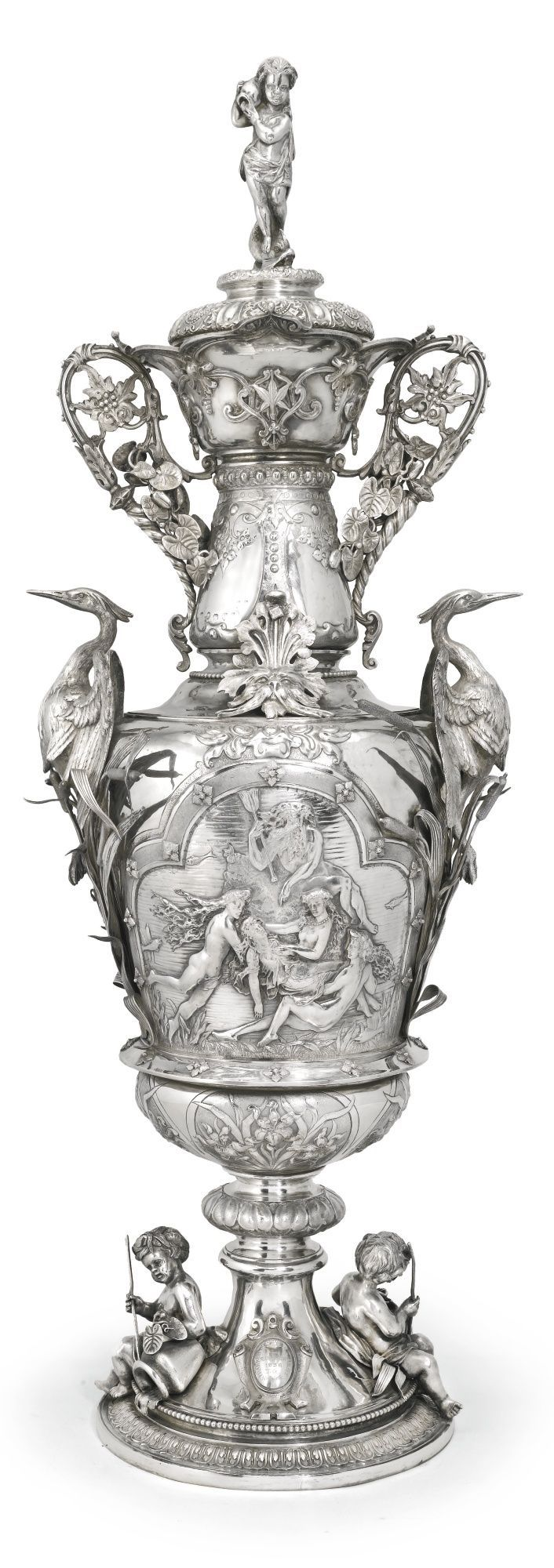 Large Victorian Silver Trophy cup and cover, Stephen Smith for Stephen Smith & Son, London 1877   Sotheby's