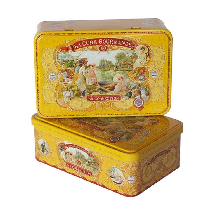 Boîte à biscuits Rectangle en Métal – Commandez | Collection Jaune