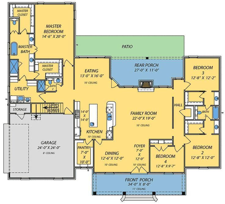 17 best images about houses i like on pinterest french for Sprawling ranch home plans