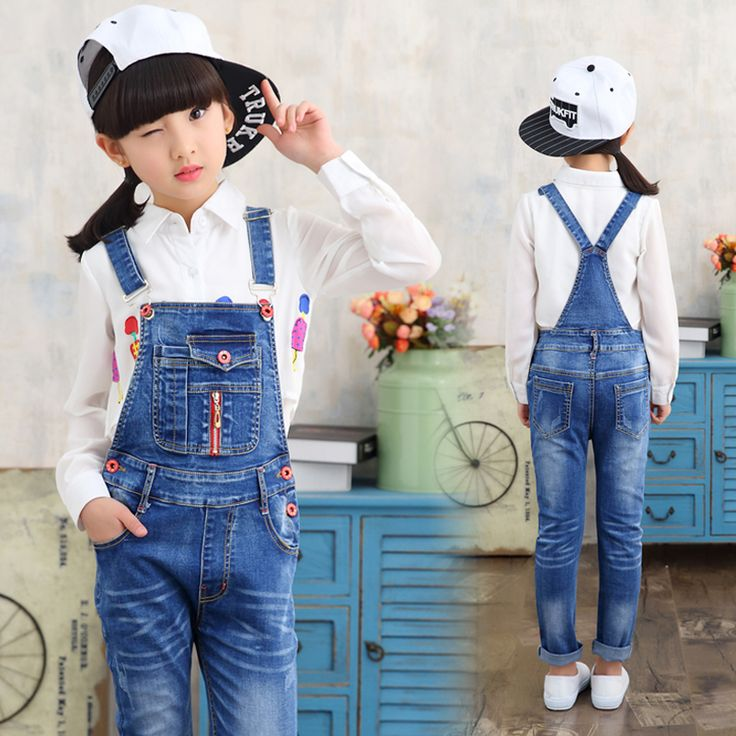 >> Click to Buy << New Arrival baby pants Boys girls trouser jeans denim jumpsuit overoles kids Spring And Autumn Children Jeans Jumpsuits Clothes #Affiliate