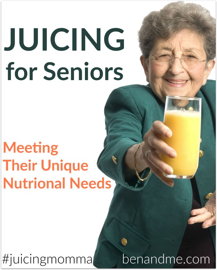 Juicing for Seniors Meeting Their Unique Nutritional Needs -- Juicing is a simple way to get more vegetables into anyone's diet, and it can play a role in restoring and maintaining proper health among senior citizens. Since the amount of minerals and vitamins is concentrated, one can get the benefits without consuming huge quantities. This is so important when one's appetite is suppressed or diminished. #juicingmomma #juicing