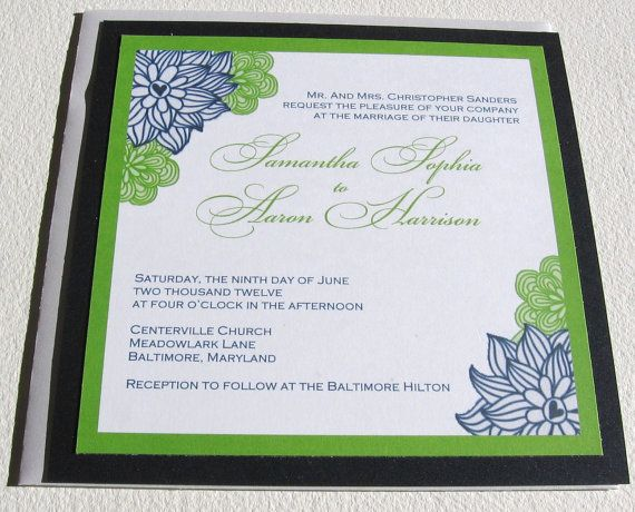 Dark Blue Wedding Invitations: 35 Best Images About Dark Blue & Green Wedding On