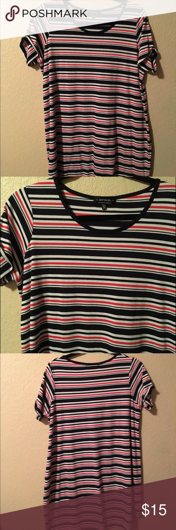 Cotton on striped t shirt dress Cotton on red white and blue t shirt dress Cotton On Dresses