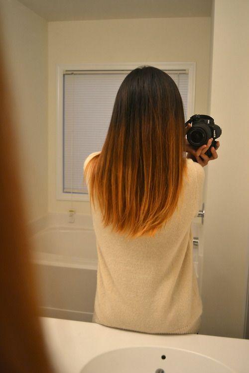 Artsy pic, I wish I had that ombré strait hair SOOO bad!!