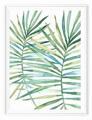 Plakat skandynawski tropikalny liść