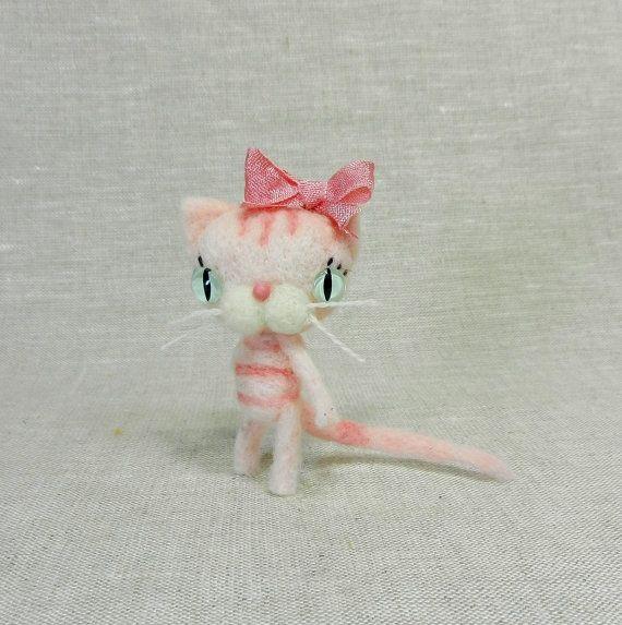 Tiny Strawberry Cupcake Kitty MadeToOrder by violetpi on Etsy, $28.00