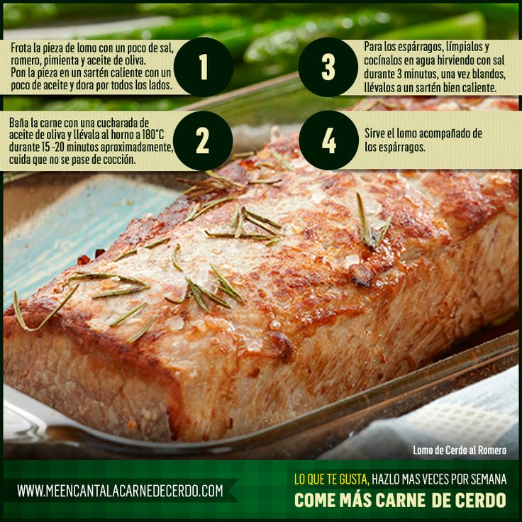 Sigue este paso a paso y prepara Lomo de Cerdo al Romero. ¡Te va a encantar!