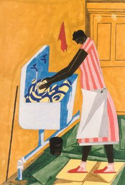 """Home Chores"" by Jacob Lawrence"